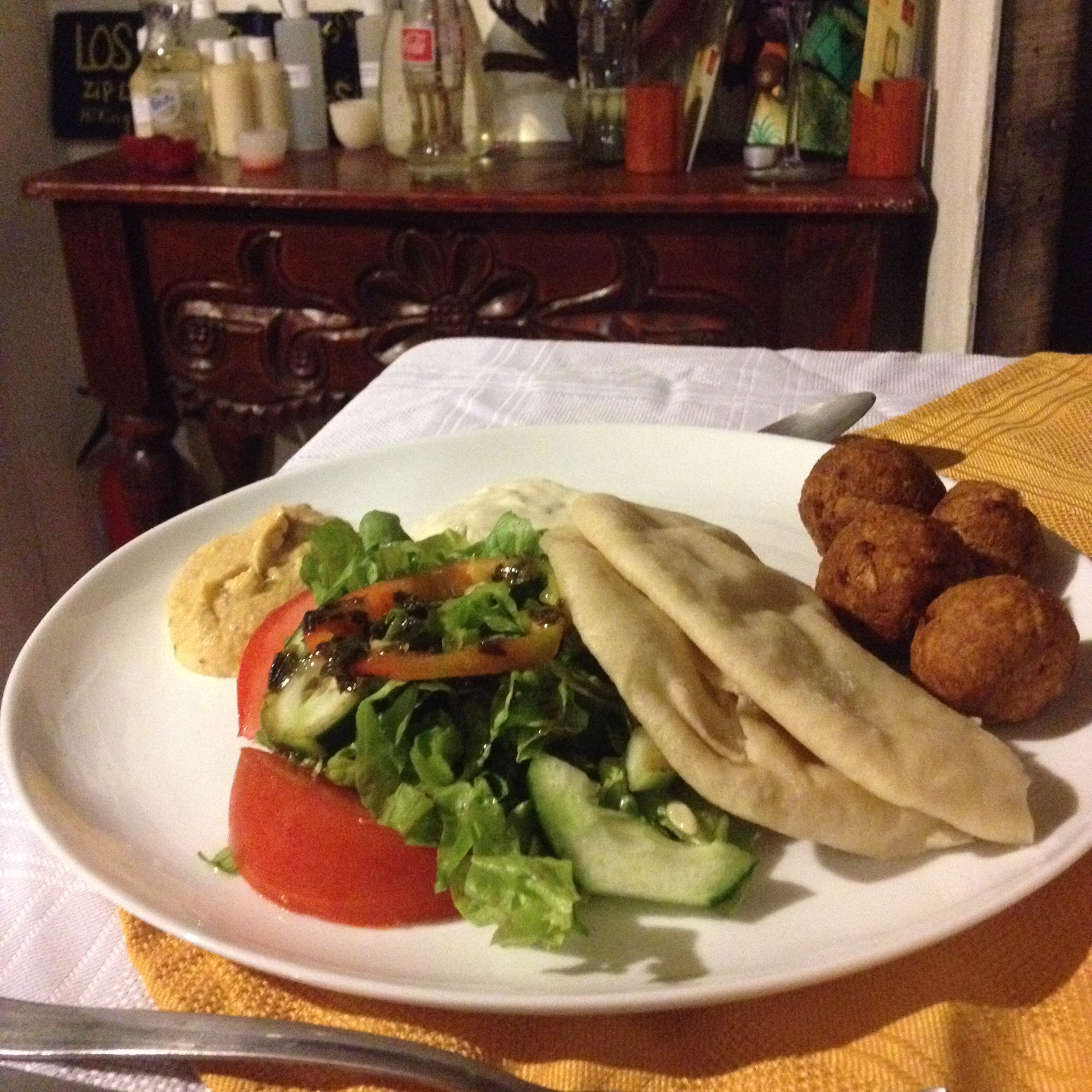 Homemade falafels at Essence Arenal