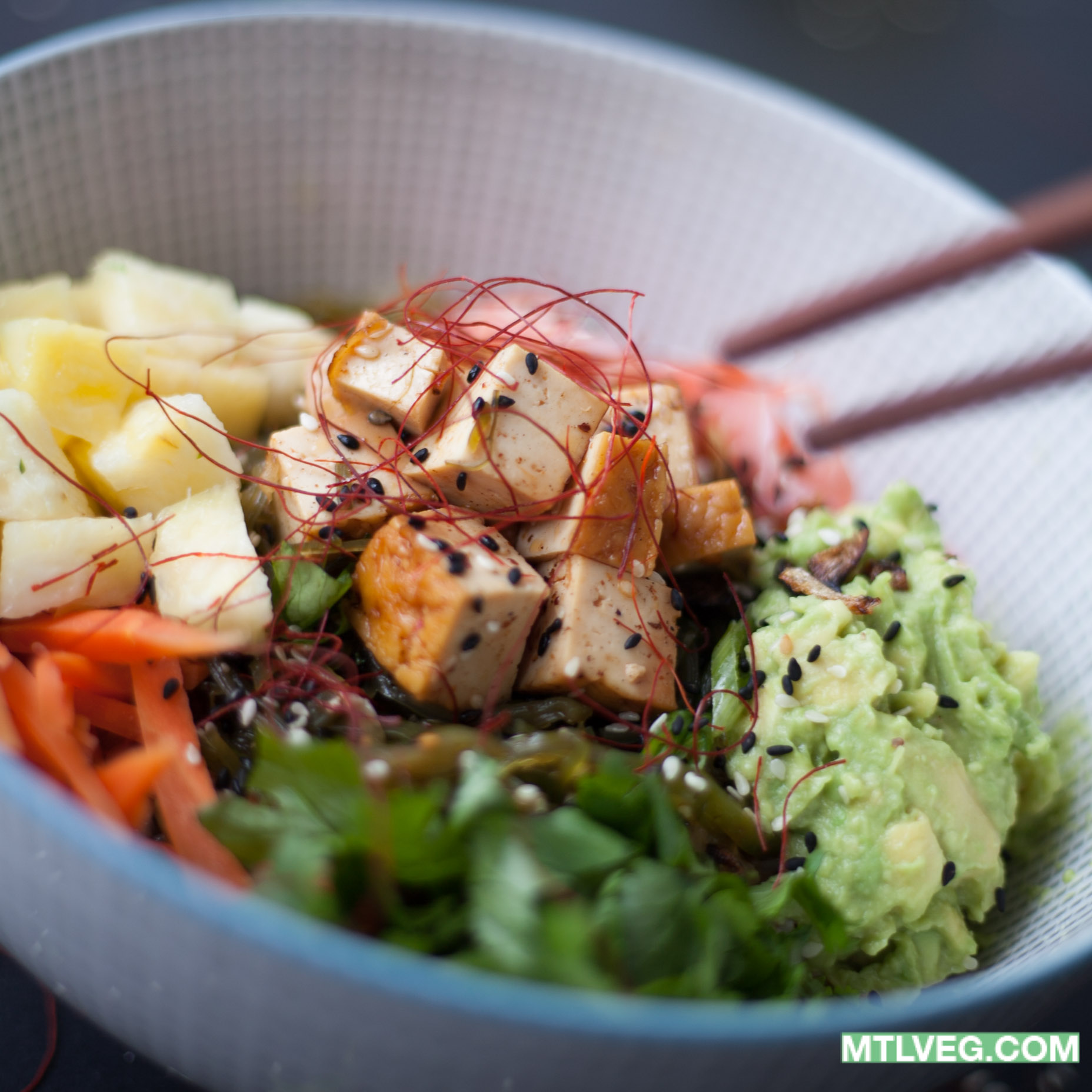 Vegan Hawaiian Poke Inspired Rice Bowl